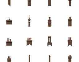 Chimneys 3D model VR / AR ready