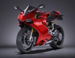 HQ LowPoly Ducati 1199 Panigale 2012 3D Model