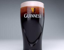 3D Guinness beer glass