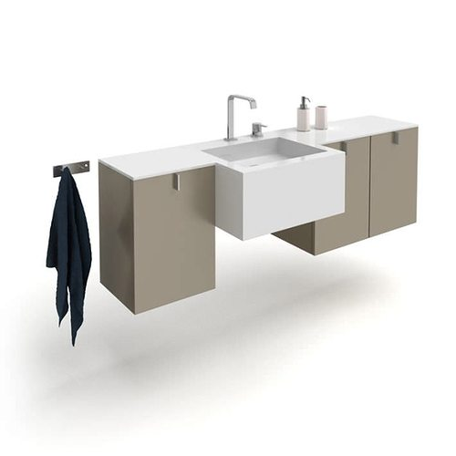 modern bathroom vanity set 3d model  1