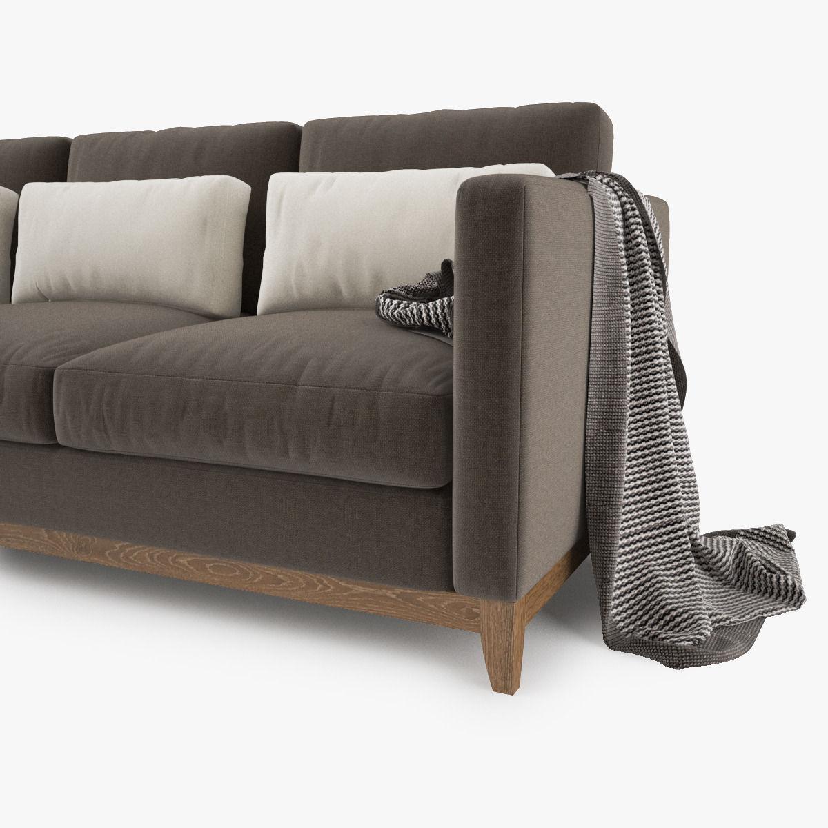 Crate and Barrel Taraval 3 Seat Sofa 3D | CGTrader