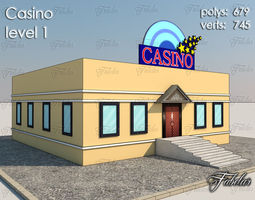 low-poly casino level 1 3d model