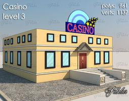 casino level 3 3d model VR / AR ready