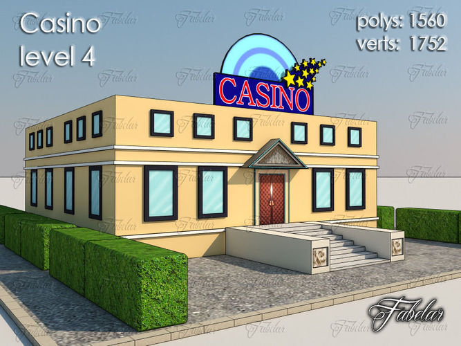 casino level 3d model max obj 3ds fbx c4d dae 1