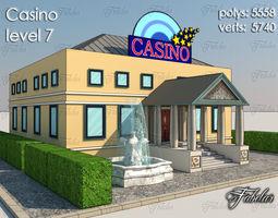 3d asset game-ready casino level 7