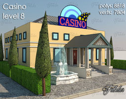 Casino Level 3D model game-ready