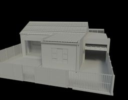 exterior space House 3D