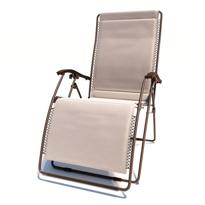 Outdoor Folding Deck Chair 3D Model CGTrader