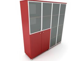 3d model red storage cabinet