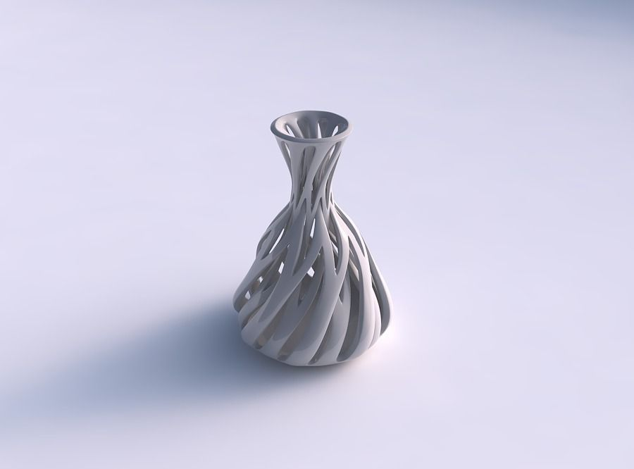 Vase taper squeezed neck with intertwining lines tapered 2