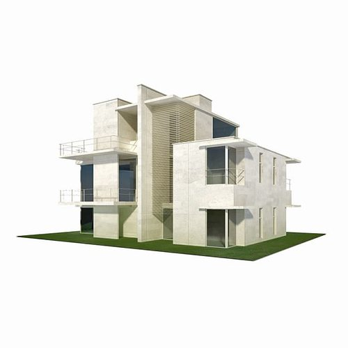 Modern house building 3d model cgtrader for New model contemporary house
