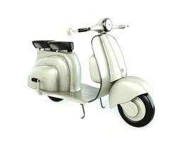 3d white retro scooter