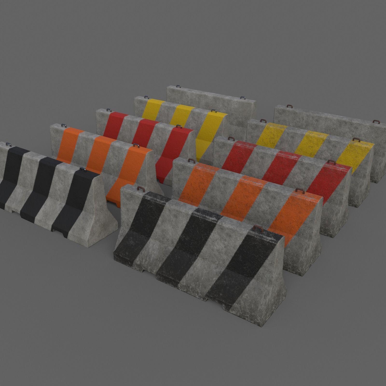 PBR Concrete Barrier V2