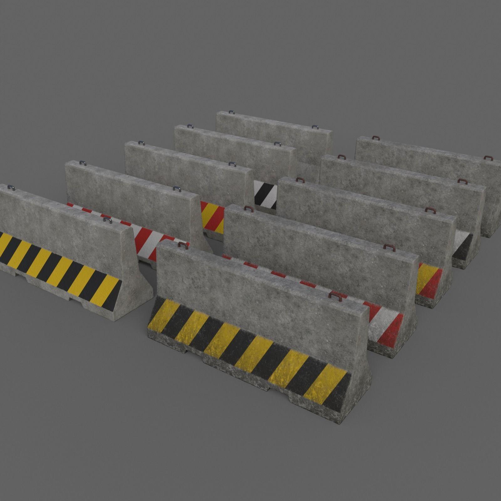 PBR Concrete Barrier V3