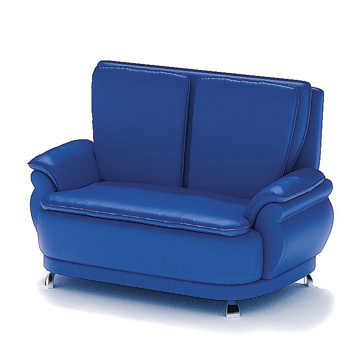 Blue Leather Sofa 3D Model CGTrader