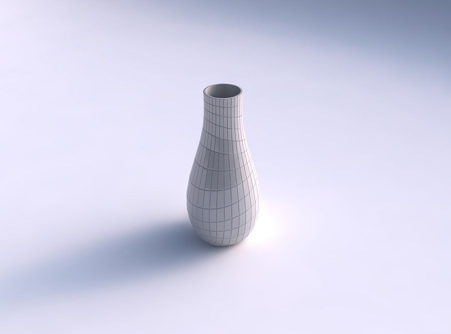 Vase curved with distorted grid plates
