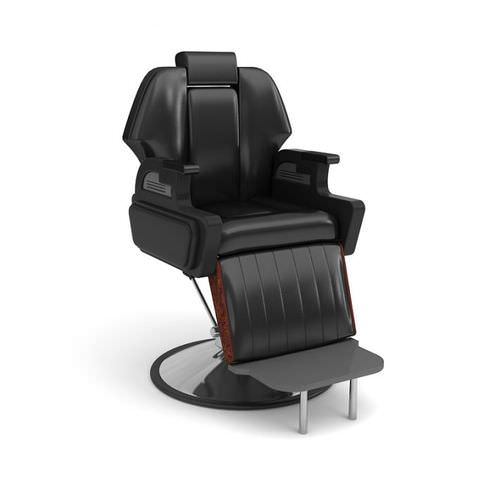 Black Leather Parlor Chair3D model