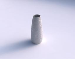 Vase Bullet with twisted diagonal grid bulges 3D Model