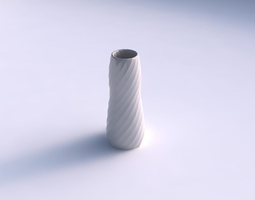 vase bullet with twisted bands 3d print model