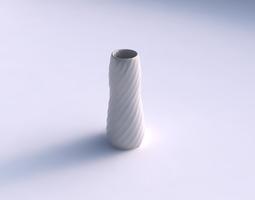 Vase Bullet with twisted bands 3D Model