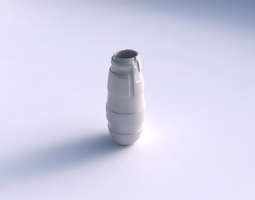 3d printable model vase bullet with smooth ribbons