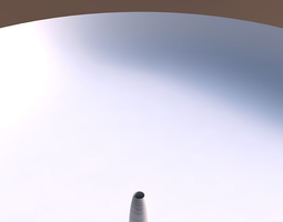 Vase Bullet with smooth horizontal dents 3D Model