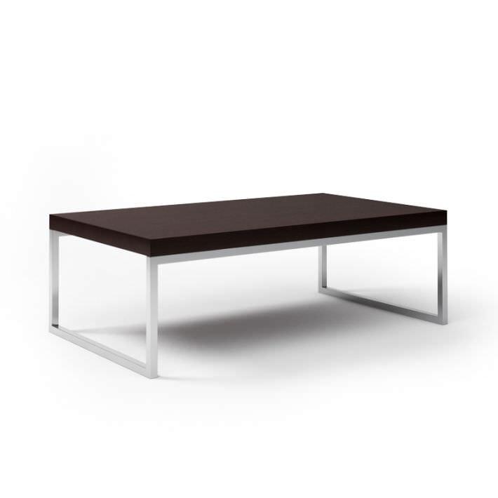 black wooden coffee table 3d model