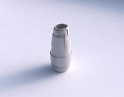 Vase Bullet with sharp ribbons 3D Model