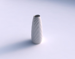 vase bullet with curved horizontal wavy sections 3d print model