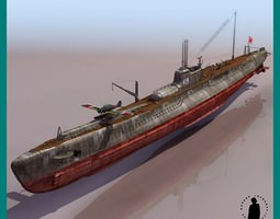 FIRST CLASS TYPE OTSU I 19 WWII SUBMARINE 3D Model
