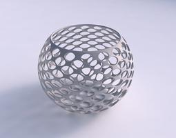3D printable model Bowl spheric with bubble grid lattice
