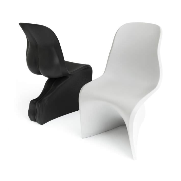 Modern White Black Chairs Casamania 3d Model Cgtrader Com