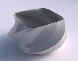 3D printable model Bowl helix with twisted bands