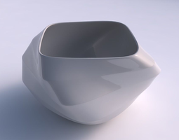Bowl helix with horizontal sections 3D print model