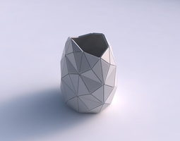 3D printable model Bowl compressed with triangle plates