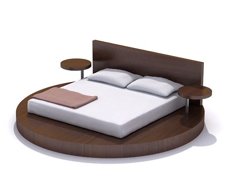 Modern bedroom set bed night tables 3d model cgtrader