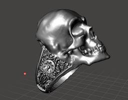 3D print model Maker skull ring