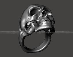 gothic Skull Ring 3D printable model