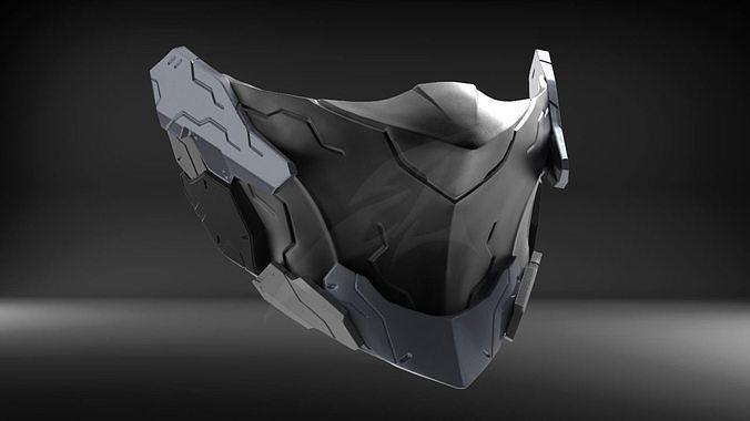 Cyborg Mask V2 STL for