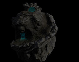skull cave 9 realtime 3d asset