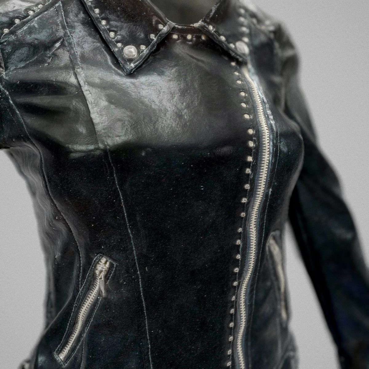 Shiny Blue Skirt and Jacket | 3D model