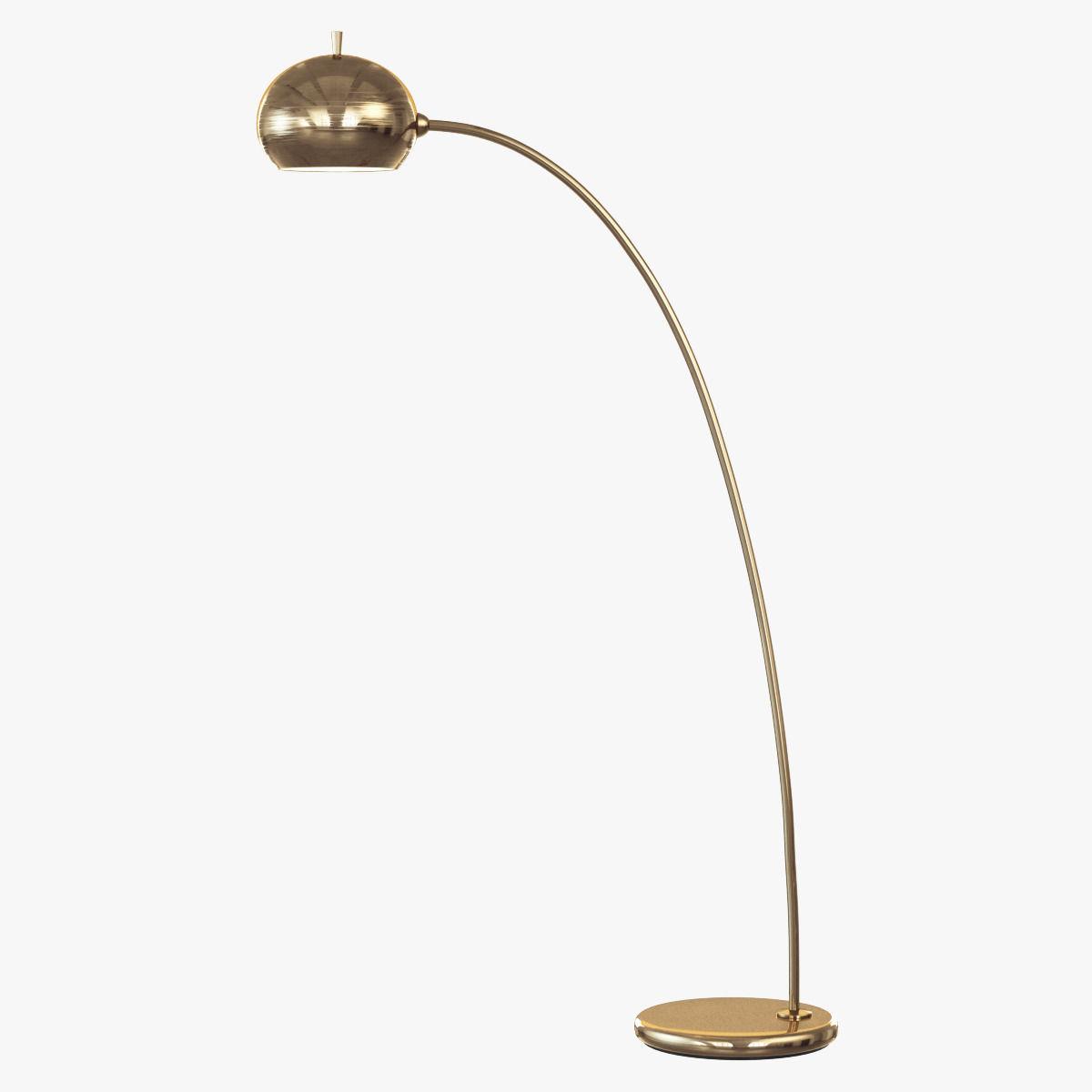 Petite arc metal floor lamp 3d model max obj 3ds fbx for Floor lamp 3ds max free model
