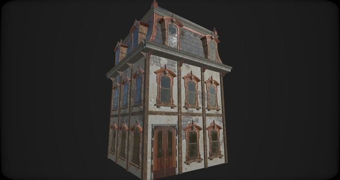 victorian style house 3d model lowpoly fbx tga 6 - Victorian Style House