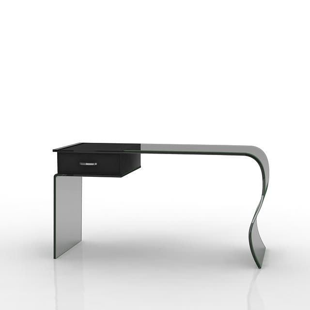 Modern Black Desk 3D Model CGTrader