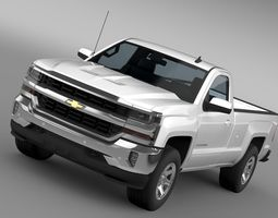 Chevrolet Silverado LT Regular Cab Long Box 2016 3D Model