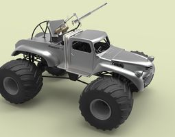 Big Foot from Mad Max Fury Road 3D Model