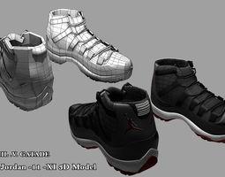 shoes Jordan 11   3D Model