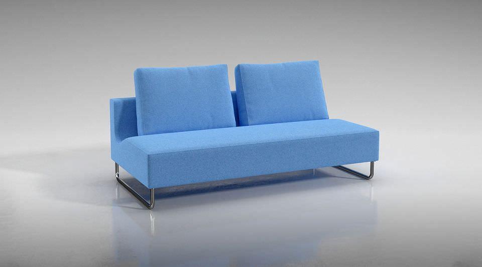 blue futuristic sofa 3d model