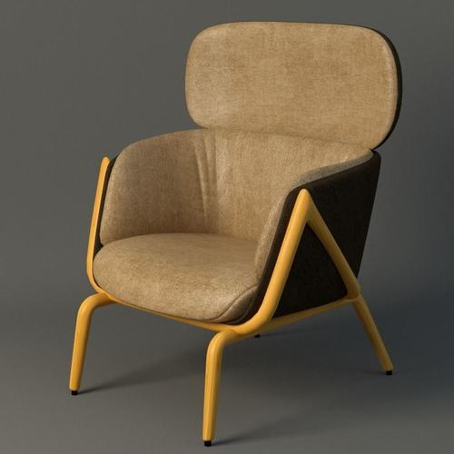 elysa chair 3d model max obj mtl fbx ma mb 1