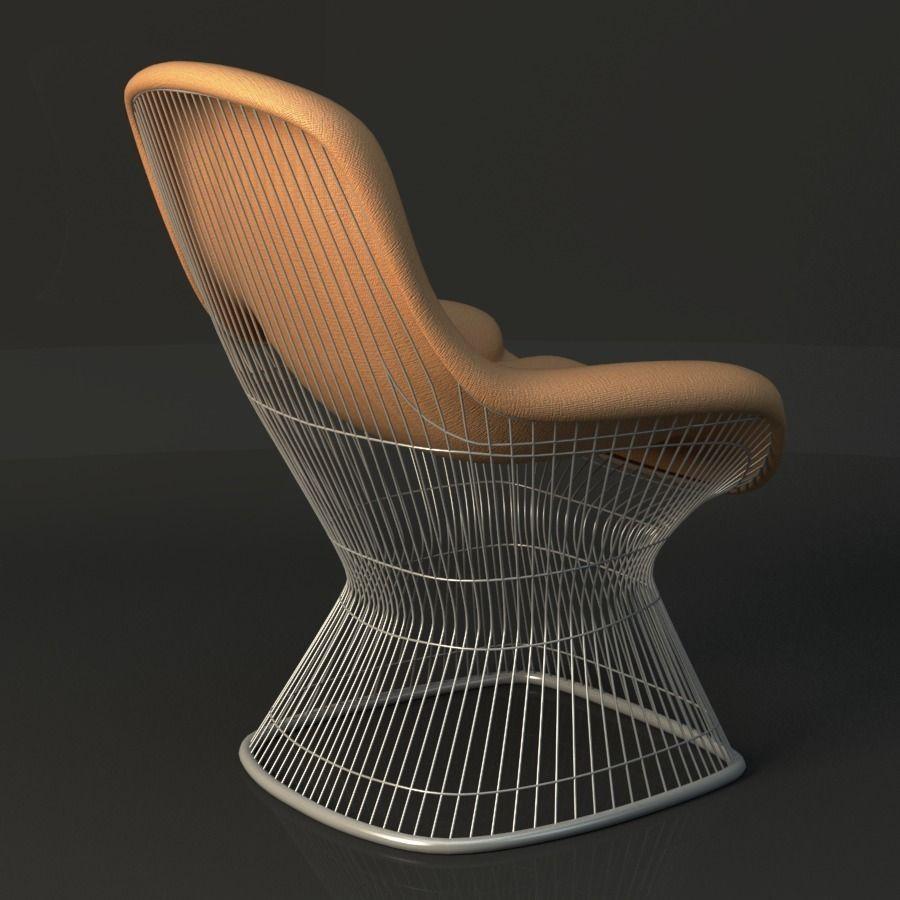 ... Warren Platner Lounge Chair 3d Model Max Obj Fbx Ma Mb Mtl 3 ...